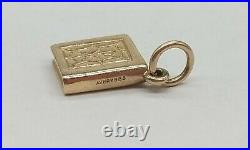 RARE RETIRED James Avery 14k Yellow Gold Holy Bible Charm Uncut Ring FREE SHIP