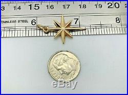 RARE RETIRED James Avery 14k Yellow Gold Star of Bethlehem Charm Uncut Ring