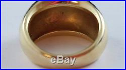 RARE RETIRED James Avery Hammered Dome 14k Yellow Gold Ring Size 8 FREE SHIPPING