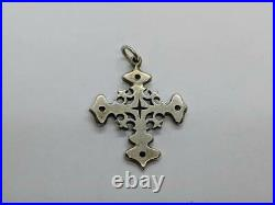 RARE RETIRED James Avery Sterling Silver Cross Pendant Charm 1.32 UNCUT RING