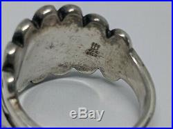 RARE RETIRED James Avery Sterling Silver Flower & Leaves Ring Size 6.75