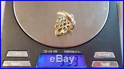RARE RETIRED James Avery Tall Swirl Wavy Ribbon Ring 14k Yellow Gold Sz 7.5
