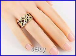 RARE Retired James Avery 14K Open Lattice 10mm Wide Band Ring Size 6 8.1 Grams