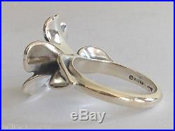 RETIRED JAMES AVERY APRIL FLOWER RING New! 18k GOLD Silver Sz 5¼ with JA BoX