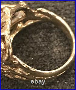 RETIRED James Avery 14K Tree Vine Ring With Diamonds ONE OF A KIND Size 6.5