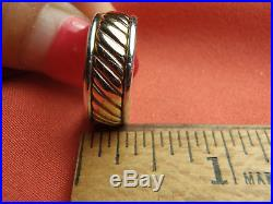 RETIRED James Avery 14k Gold & Sterling Silver Wedding Band Ring Size 6 1/2