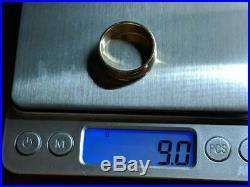 RETIRED James Avery 14k Yellow Gold Regal Wedding Band Ring Size 9.5 FREE SHIP