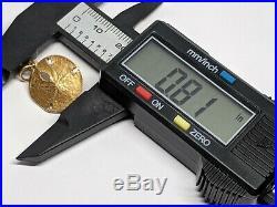 RETIRED James Avery 14k Yellow Gold Sand Dollar Charm MEDIUM Uncut Ring