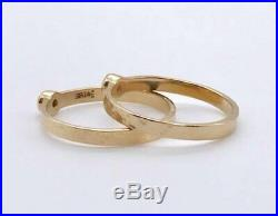 RETIRED James Avery Solid 14k Yellow Gold Hammered Stackable Band Rings