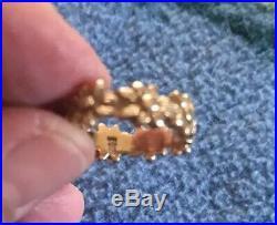 RETIRED James Avery Solid 14k Yellow Gold Margarita Flower Ring / Band