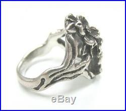 RETIRED James Avery Sterling Silver Sz 6.5 Dogwood Flower Dome Ring JA04