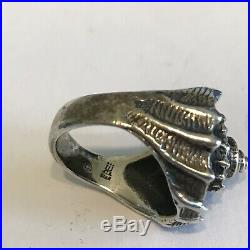 RaRe HTF Sterling Silver 925 Ring Size 6 1/2 James Avery Conch Shell 8 Gr