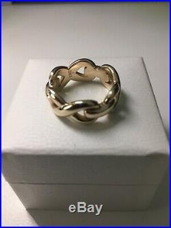 Rare James Avery 14 k Infinity Band Ring 10.7 Grams Size 8
