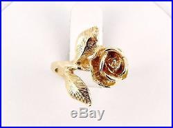 Rare Retired James Avery 14K Large Rose Ring Size 5 1/2