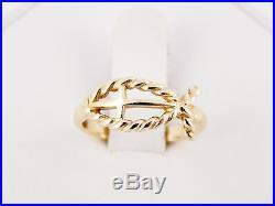 Rare Retired James Avery 14k Open Icthus Cross Fisher's of Men Ring Size 5 1/2