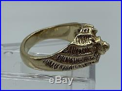 Rare Retired James Avery 14k Yellow Gold Conch Ring Shell Size 8 Excellent