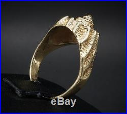 Rare Retired James Avery 14k Yellow Gold Sea Conch Shell Ring Size 6.75 RG803