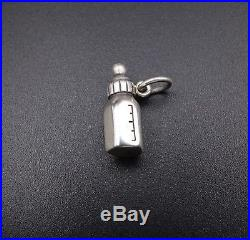 Rare Retired James Avery Sterling Silver 3D Baby Bottle Charm Uncut Ring CHS901