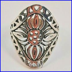 Rare Retired James Avery Sterling Silver 925 Long Flower Ring sz 10