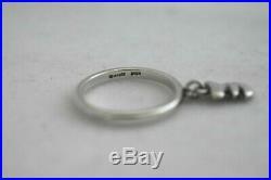 Rare Retired James Avery Sterling Silver Koala Bear Dangle Charm Ring Size 8