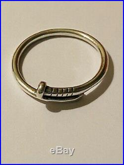 Rare Retired James Avery Sterling Silver Nail Ring size 7.5
