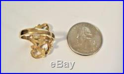 Retired Beautiful JAMES AVERY 14K Gold Scrolled Two Hearts Ring