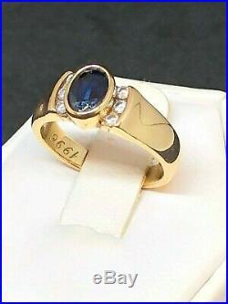 Retired James Avery 14K Sapphire and Diamond Ring CT
