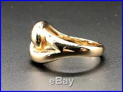 Retired James Avery 14K Yellow Gold CANEDA Knot Ring Size 9.5