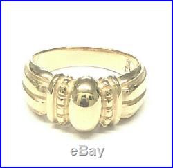 Retired James Avery 14K Yellow Gold Dome Thatch Ring, Size 7.5