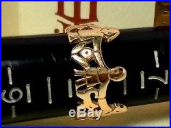 Retired James Avery 14 K Gold Children Ring Paper Doll Band Boy Girl Ring Size 8