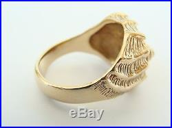 Retired James Avery 14k Gold Conch Shell Ring size 8.5 13.7gr