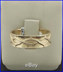 Retired James Avery 14k Yellow Gold Crown of Thorns Men's Ring Size 10 6.2g