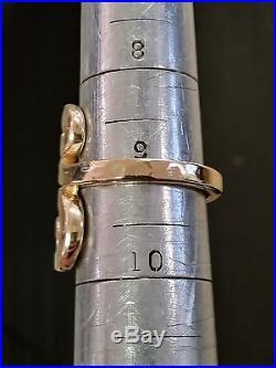 Retired James Avery 14k Yellow Gold Hammered Swirl Women's Ring Size 9 9.9g