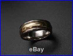 Retired James Avery 14k Yellow Gold Palladium Band Ring Sz 5.25 RS1087