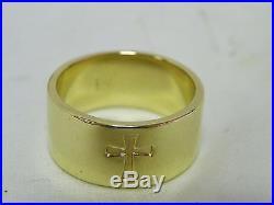 Retired James Avery 14kt Gold Crosslet Band Ring (11.5)