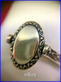 Retired James Avery 925 Sterling Silver Secret Message Ring Size 9.25