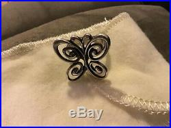 Retired James Avery Abounding Butterfly Ring Size 7