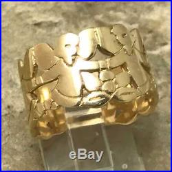Retired James Avery Angel Band Ultra Rare Ring R-132 Sz 8 1/2 14K Yellow Gold
