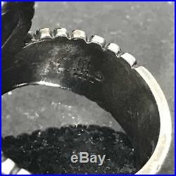 Retired James Avery Beaded Spiral Swirl Ring Sz 7 1/2 Sterling Silver. 925