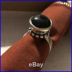 Retired James Avery Black Onyx Bead Ring