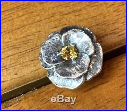 Retired James Avery Citrine Flower Ring Excellent Condition Gift Box 925SS 5 1/2