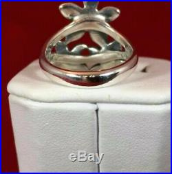 Retired James Avery Flower Bouquet Ring Sterling Silver RARE