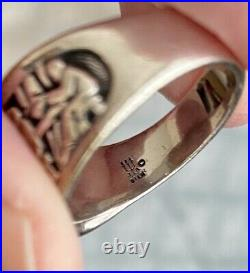 Retired James Avery LAST SUPPER Ring Sterling Silver Size 8.5