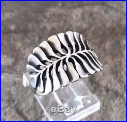 Retired James Avery Mimosa Leaf Ring Sz 9 Sterling Silver 925 Rare