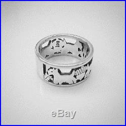 Retired James Avery Scottie Dog Acorn Band Ring