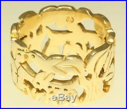 Retired James Avery St. Francis Animal Ring Dove Deer Tree Love Animals Size 7.5