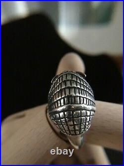 Retired James Avery Sterling Armadillo Ring Size 7 with Avery box, pouch, insert