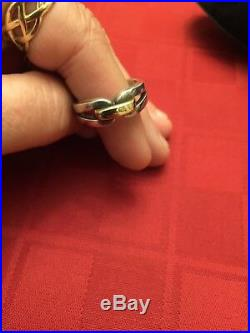 Retired James Avery Sterling Silver & 14k Gold Infinity Enduring Bond Ring Sz 9