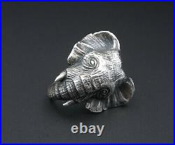Retired James Avery Sterling Silver 3D Elephant Statement Ring Size 6.5 RS2791