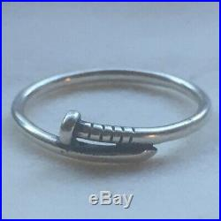 Retired James Avery Sterling Silver 925 Nail Ring Size 9 1/2 unisex